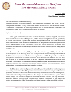 Pastoral Letter from His Eminence_Metropolitan Evangelos of New Jersey